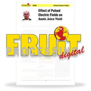 Effect of pulsed electric fields on apple juice yield