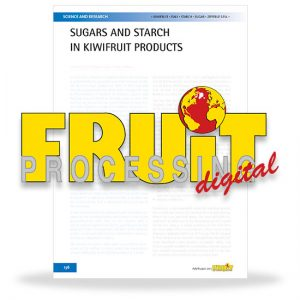 Sugars and starch in kiwifruit products