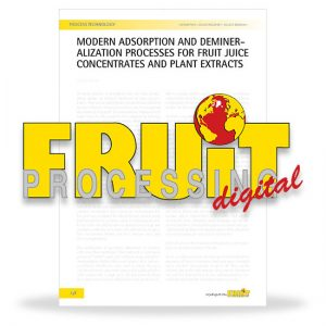 Modern adsorption and demineralization processes for fruit juice concentrates and plant extracts
