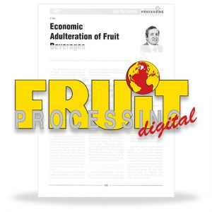 Economic adulteration of fruit beverages
