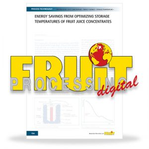Energy savings from optimizing storage temperatures of fruit juice concentrates
