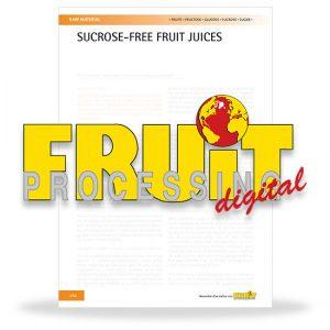 Sucrose-free fruit juices