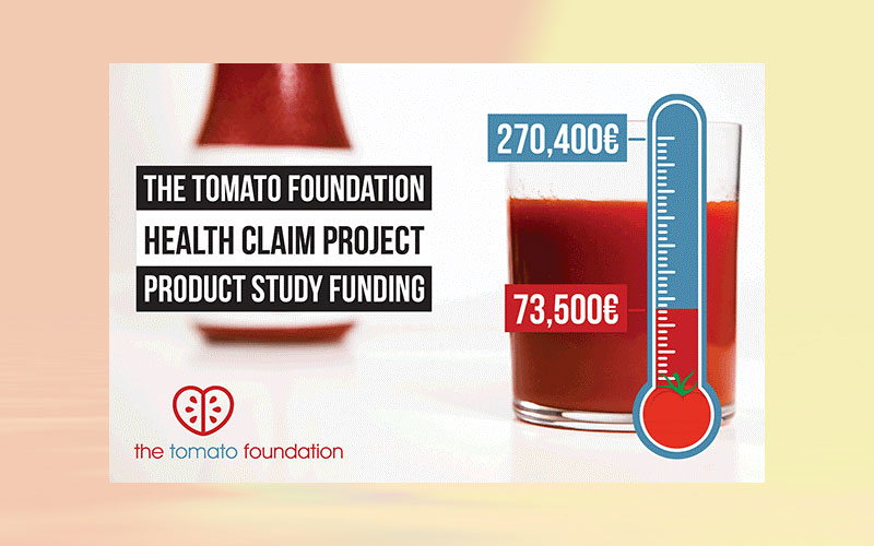 The Tomato Foundation Health Claim Project – Partnership / Funding update