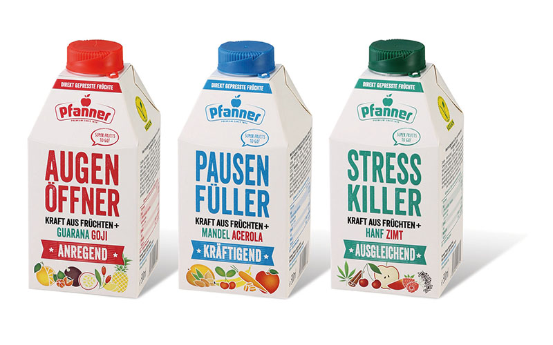 Meeting Millennial needs: Pfanner wakes up the drinks market with new range using SIG's combidome 500 ml carton bottle