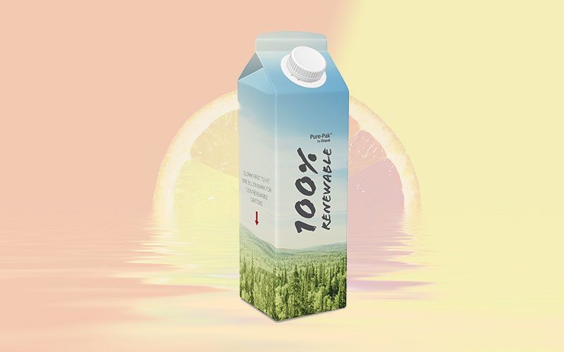 Elopak first to hit one billion mark for 100 % renewable cartons