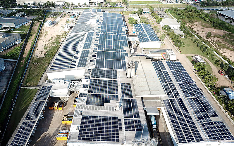Grand opening of the SIG solar roof in Rayong