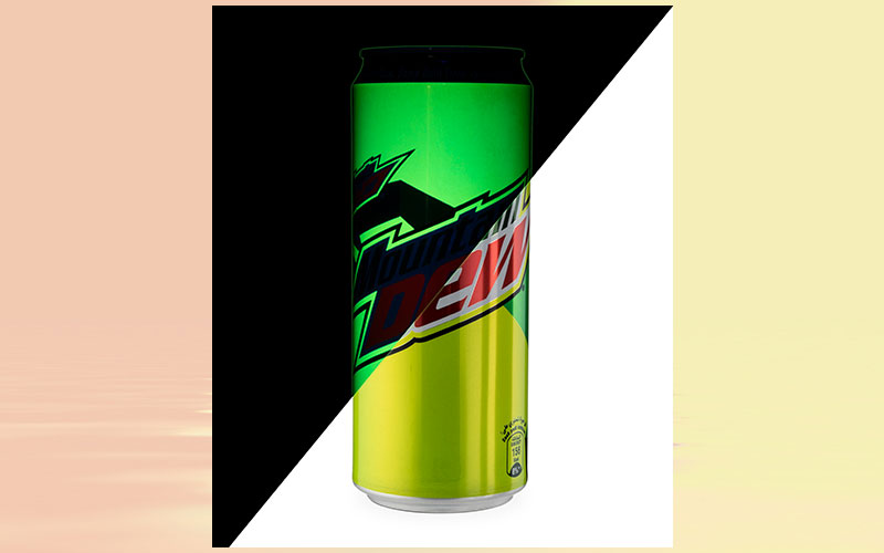 Special edition Mountain Dew cans bring neon inks tot he Middle East