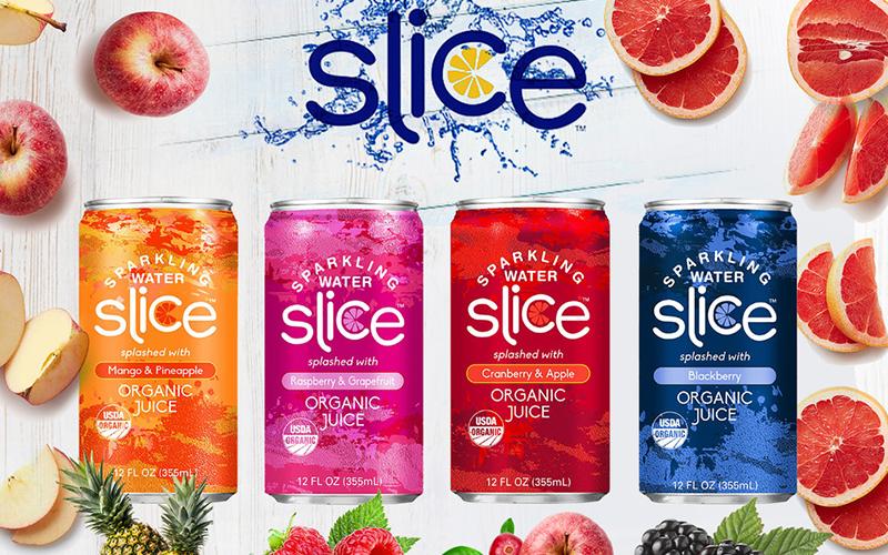 Slice delivers sparkling water splashed with organic fruit juice