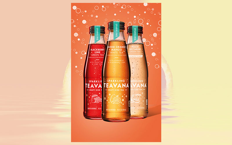 Ready-to-Drink Teavana Sparkling Craft Iced Teas now available with new flavor in the US