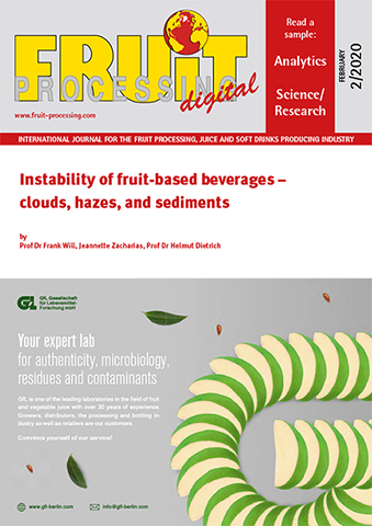 Instability of fruit-based beverages – clouds, hazes, and sediments