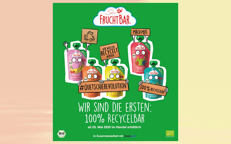 First recycable monomaterial pouches by Gualapack launched in Germany