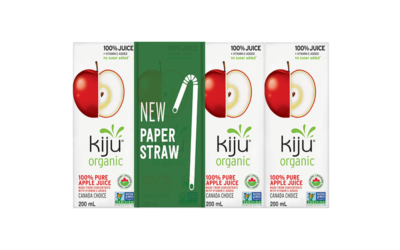 Lassonde: First in Canada to launch paper straws and recyclable packaging for its Kiju and Simple Drop beverage products