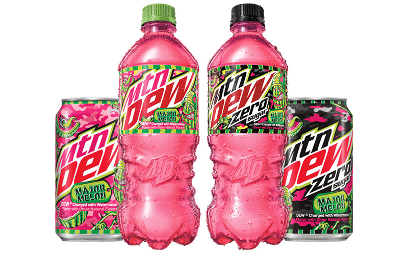 Mtn Dew® takes flavour to the extreme with Major Melon and Major Melon Zero Sugar