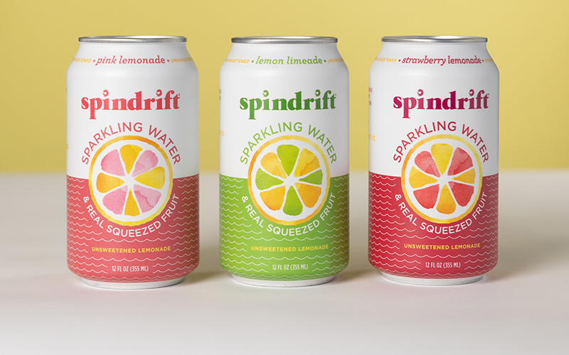 Spindrift® reimagines lemonade as an unsweetened sparkling water