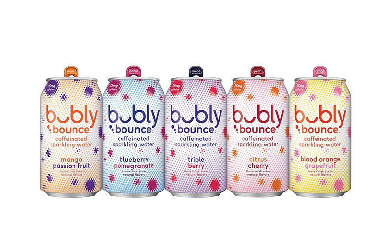 PepsiCo's sparkling water brand bubly introduced the launch of bubly bounce – a sparkling water with a kick of caffeine