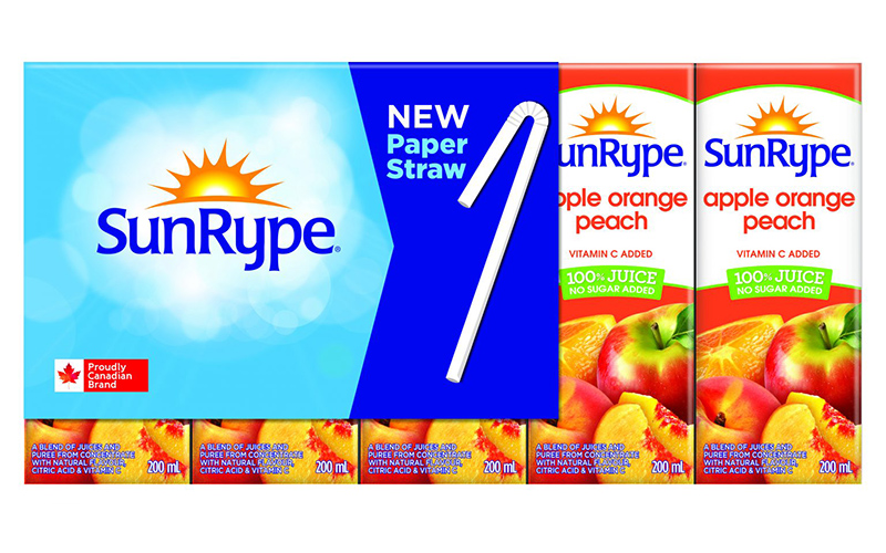 Sunrype announces launch of recycable paper straws