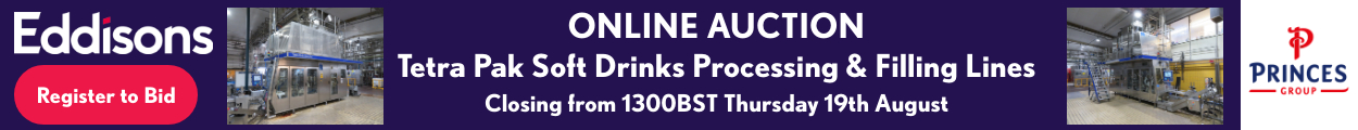 Online Auction - Tetra Pak Soft Drinks Processing & Filling Lines